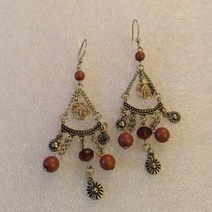 coin beads earring